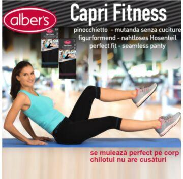 Colant modelator scurt din microfibra pentru fitness! alber's Capri Fitness