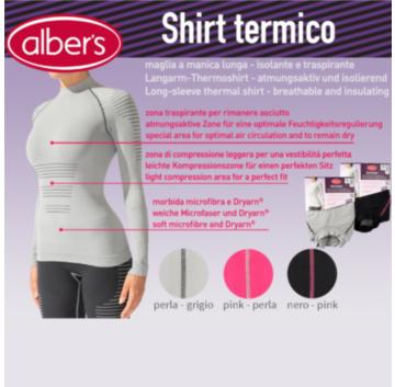 Bluza termica maneca lunga, cu fibre Dryarn® - alber's Shirt termico (Art. 245)