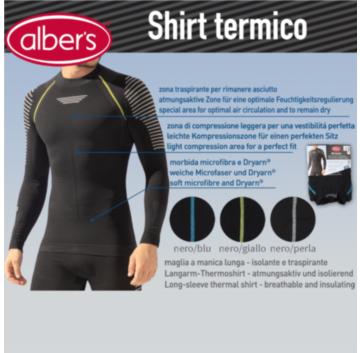 Bluza termica maneca lunga, cu fibre Dryarn® - alber's Shirt termico (Art. 246)