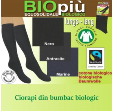 Ciorapi lungi din bumbac organic BIO pentru barbati eleganti