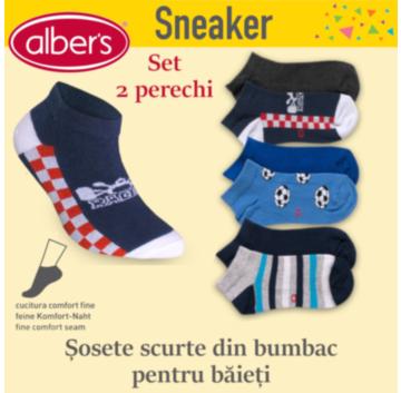 Șosete scurte SNEAKER din bumbac pentru băieți. alber's Sneaker