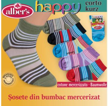 Ciorapi copii bumbac mercerizat - alber's TRENDY (Art. 441)