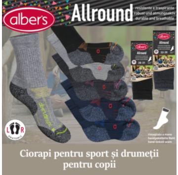 Ciorapi tehnici sport pentru copii. Au in compozitie fibre COOLMAX® si CORDURA®. Pentru confortul maxim al copiilor in timpul activitatilor fizice!