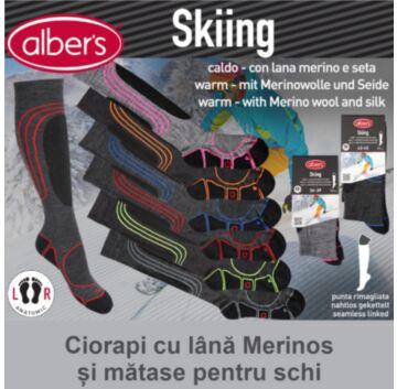 Ciorapi tehnici lungi pentru sporturi de iarna! Cu Thermolite® pentru a pastra caldura si a indeparta transpiratia.
