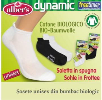 Sosete scurte unisex din bumbac biologic - alber's dynamic! Pentru picioare sanatoase si confort maxim!