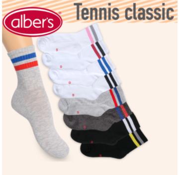 Sosete sport unisex din bumbac. alber's Tennis classic