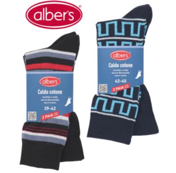 Ciorapi eleganti colorati din bumbac - CALDO COTONE set 2 per. (Art. 576N)