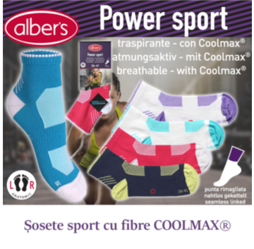 Sosete sport cu fibre COOLMAX® - alber's Power sport