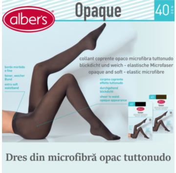 Dres dama microfibra opac 40 DEN. Din microfibra cu elastan